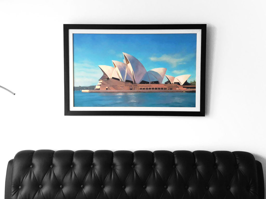 Sidney Opera House oil painting