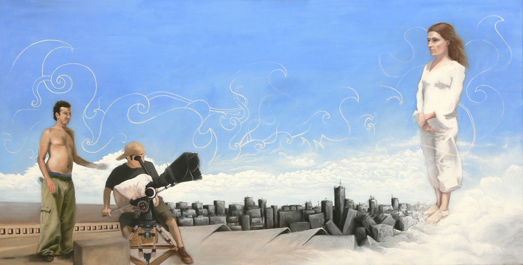 """La Luz"", óleo sobre tela, 2 x 1 mt. Martin Sternberg"